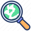 browsing, global search, international search, universal search, worldwide searching icon