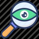 cyber eye, cyber monitoring, cyber security, cybernetic, eye monitoring, mechanical eye icon