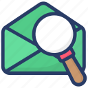 email address finder, find mail, search letter, search mail, search message icon