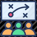 business obstacle, business presentation, scheme, stratagem, tactics icon