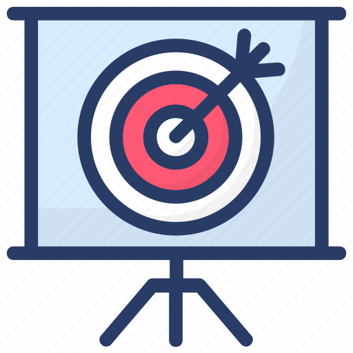 aim, archery, goal, objective, purpose, target icon