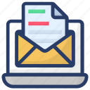 email, envelope, letter, mail message, open mail icon