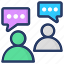 communication, conversation, discussion, forum discussion, talking icon