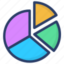 analytics, infographic, pie analysis, pie chart, statistics icon