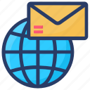 email marketing, email services, emarketing, global email, global marketing icon