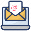 electronic mail, email, envelope, mail message, open mail icon