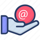 electronic mail, email, internet mail, mail, mail message icon