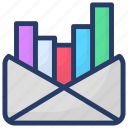 analysis report, bar chart, infographic, marketing report, statistic icon