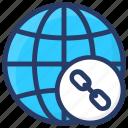 earth link, global link, hyperlink, media network, social technology icon