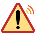 alert, danger, internet, iot, sign, things, warning