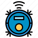 appliance, cleaner, internet, machine, robot, things, vacuum icon