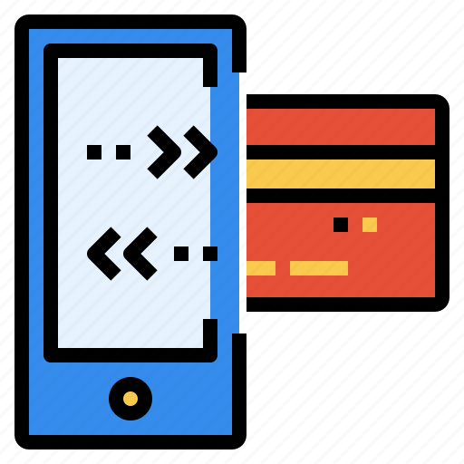 card, credit, finance, mobile, online, payment, transfer icon