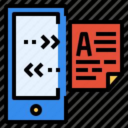 data, file, internet, technology, transfer, wireless icon