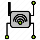 internet, connection, iot, router, ui, wifi