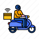 food, delivery, order, service, fast, deliver, scooter