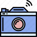 camera, device, electronic, film, internet, technology, wireless icon