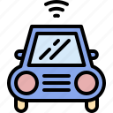 car, connection, internet, smart, transportation, vehicle, wifi icon