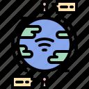 chat, communication, global, internet, map, planet, social