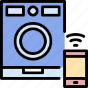 device, electronic, internet, machine, smartphone, washing, wireless icon
