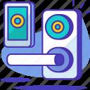 door, key, lock, locked, protect, safe, smart icon