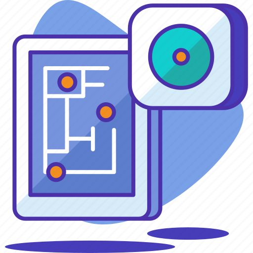 device, home, house, hub, map, smart, technology icon