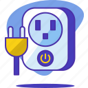 cable, device, electric, electricity, energy, plug, smart icon