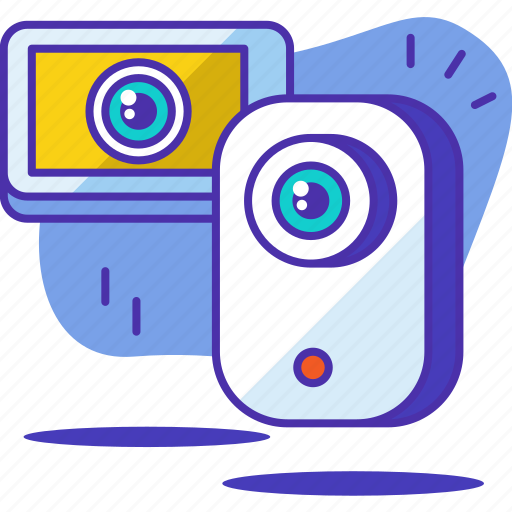 camera, home, monitor, protection, safety, security, smartphone icon