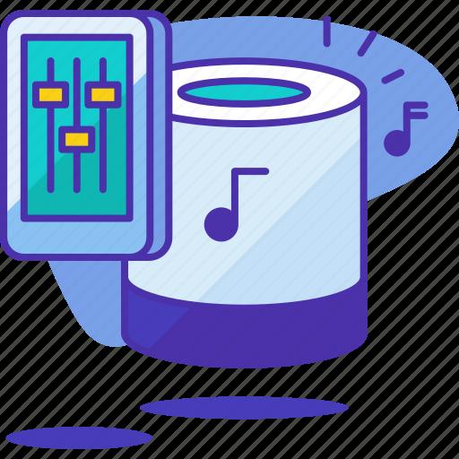 home, loudspeaker, media, smart, sound, speaker, volume icon