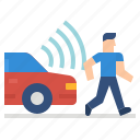 car, internet, internet of things, pedestrian, transport, vehicle icon