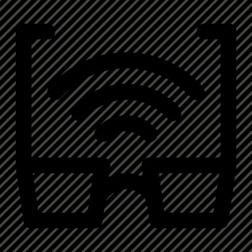 Eyeglasses, glasses, internet, smartglasses, spectacles, sunglasses, wireless icon - Download on Iconfinder