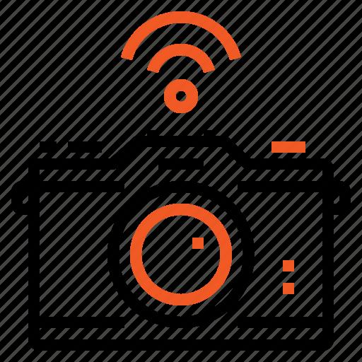 camera, internet, photo, wifi, wireless icon