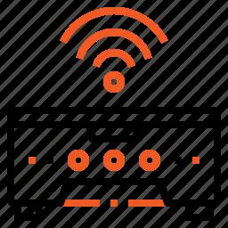 electronics, equipment, office, printer, tools, wireless icon