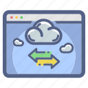 cloud, data, network, storage, transfer icon