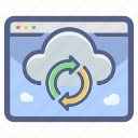 cloud, data, network, server, storage, synchronization icon