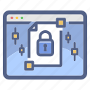 document, encryption, file, lock, protected, secure icon