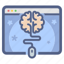 brain, e-learning, education, knowledge, online course, tutorial icon