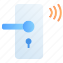 control, digital, door lock, internet of things, iot, smart, technology icon
