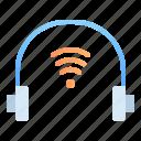digital, earphone, headphone, headset, internet of things, iot, technology icon