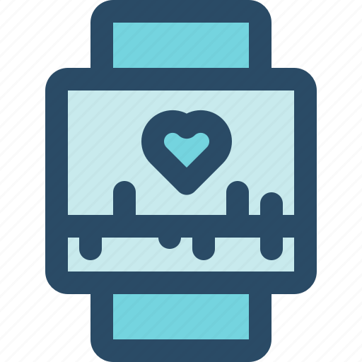 health, internet of things, iot, smart watch, technology, watch, wearables icon