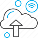 arrow, cloud, internet, things, wifi