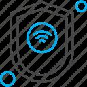 internet, shield, things, wifi