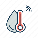 internet of things, iot, moisture, temperature, thermometer, weather forecast icon