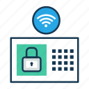 home automation, internet of things, iot, security system, wireless connectivity icon