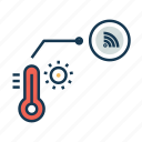 hot, internet of things, iot, temperature, thermometer, weather forecast icon