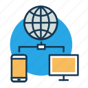 communication, connectivity, data transfer, internet, iot, server icon