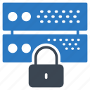 database, lock, private, protection, server