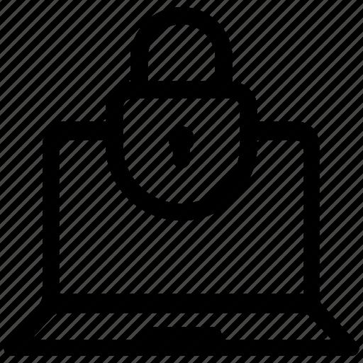 encryption, laptop, lock icon