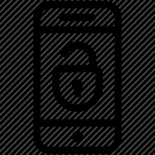 mobile, open, unlock icon