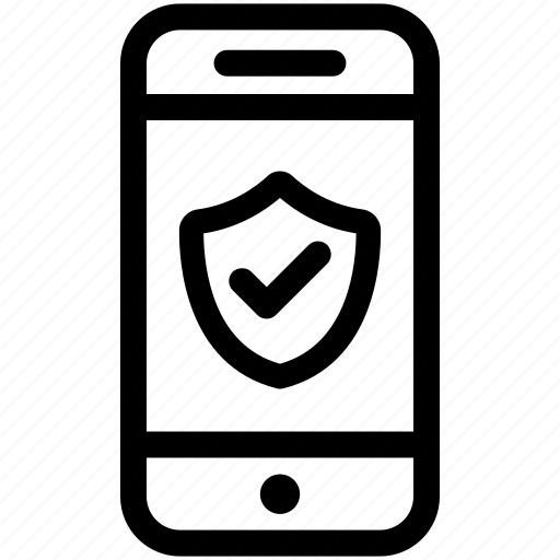 mobile, protection, security icon