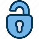 lock, open, public icon